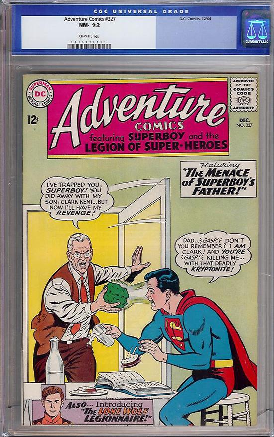 Adventure Comics #327 CGC 9.2 ow