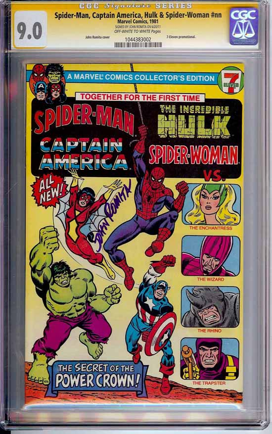 Spider-Man, Captain America, Hulk & Spider-Woman #1 CGC 9.0 ow/w CGC Signature SERIES