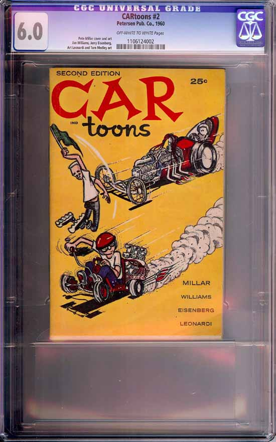 CARtoons #2 CGC 6.0 ow/w