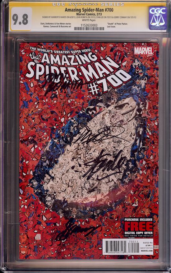 Amazing Spider-Man #700 CGC 9.8 w CGC Signature SERIES