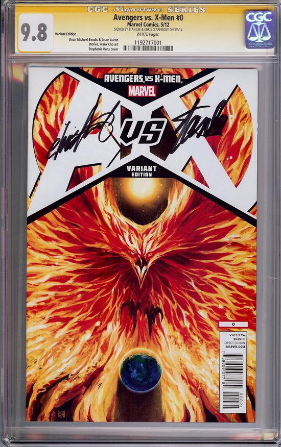 Avengers vs. X-Men CGC 9.8 w CGC Signature SERIES