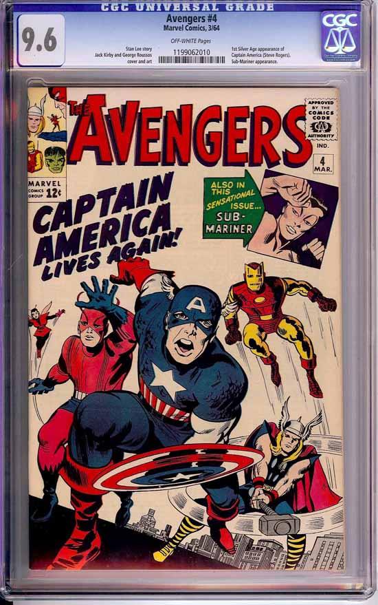 Avengers #4 CGC 9.6 ow