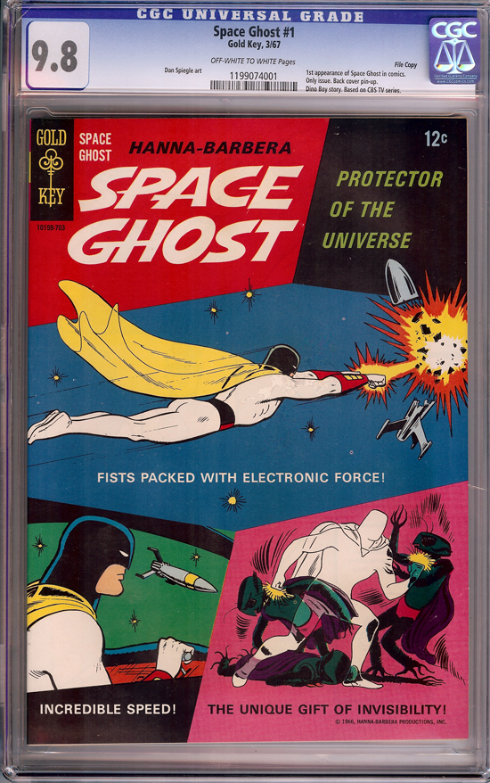 Space Ghost #1 CGC 9.8 ow/w File Copy