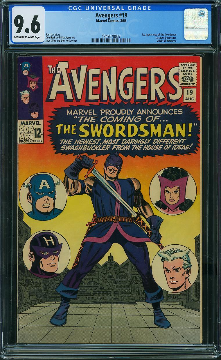 Avengers #19 CGC 9.6 ow/w