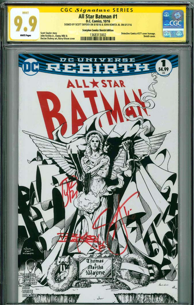 Batman #1 CGC 9.9 w CGC Signature SERIES