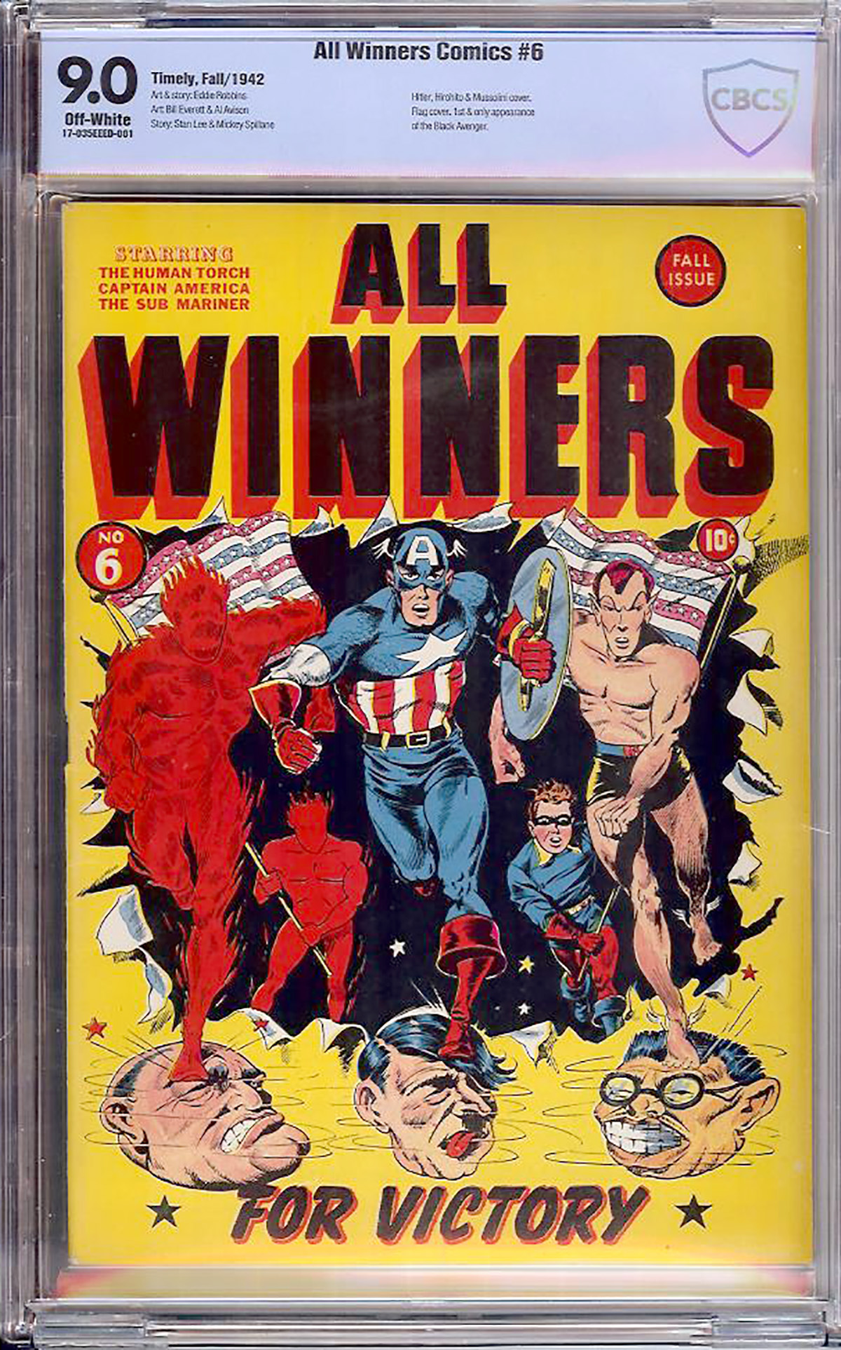 All Winners Comics #6 CBCS 9.0 ow