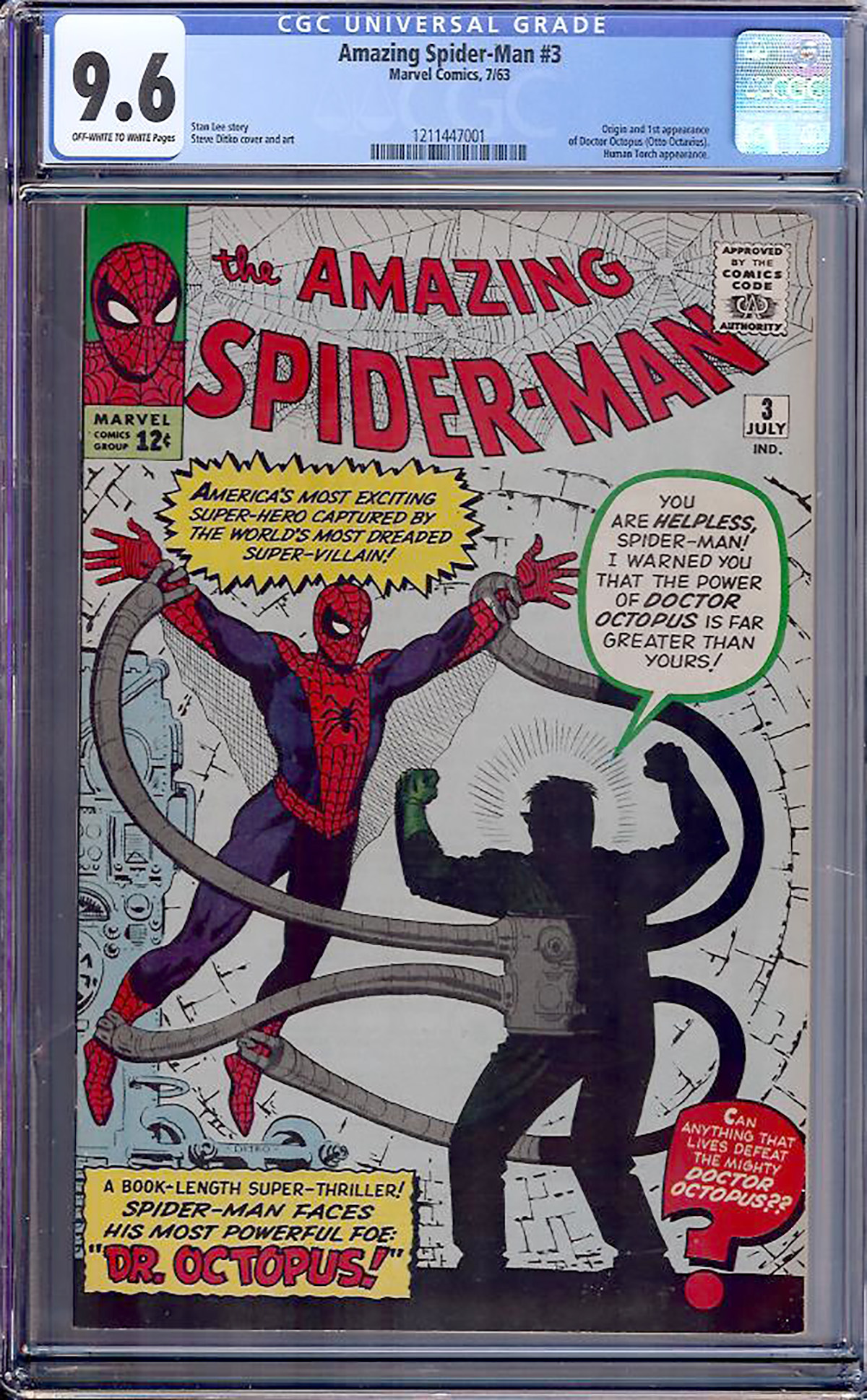 Amazing Spider-Man #3 CGC 9.6 ow/w