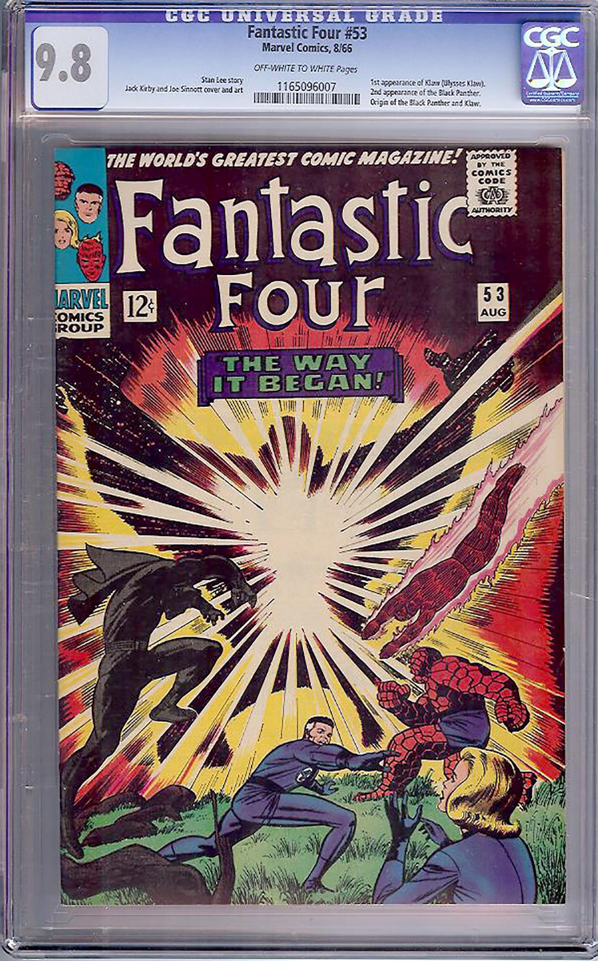 Fantastic Four #53 CGC 9.8 ow/w