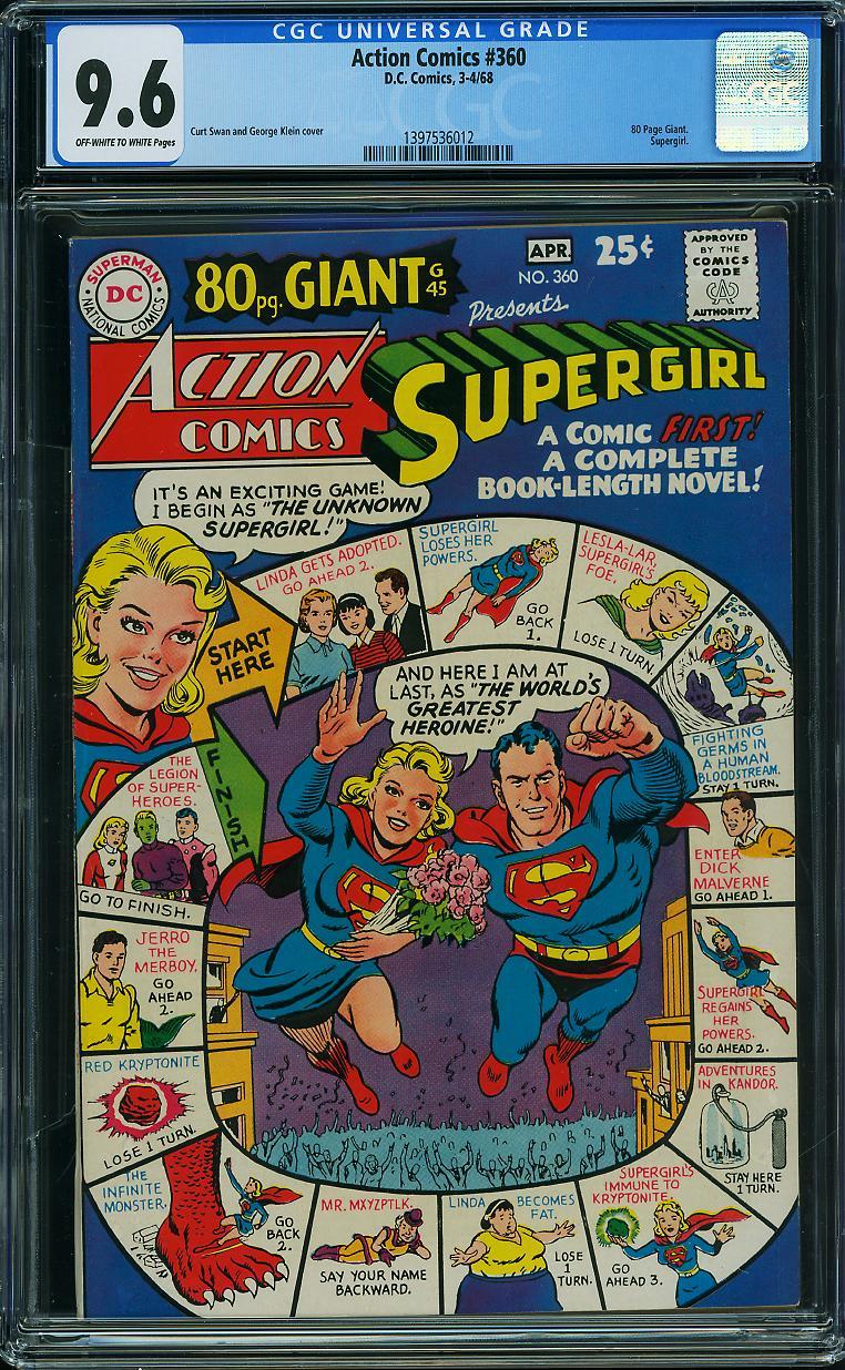 Action Comics #360 CGC 9.6 ow/w
