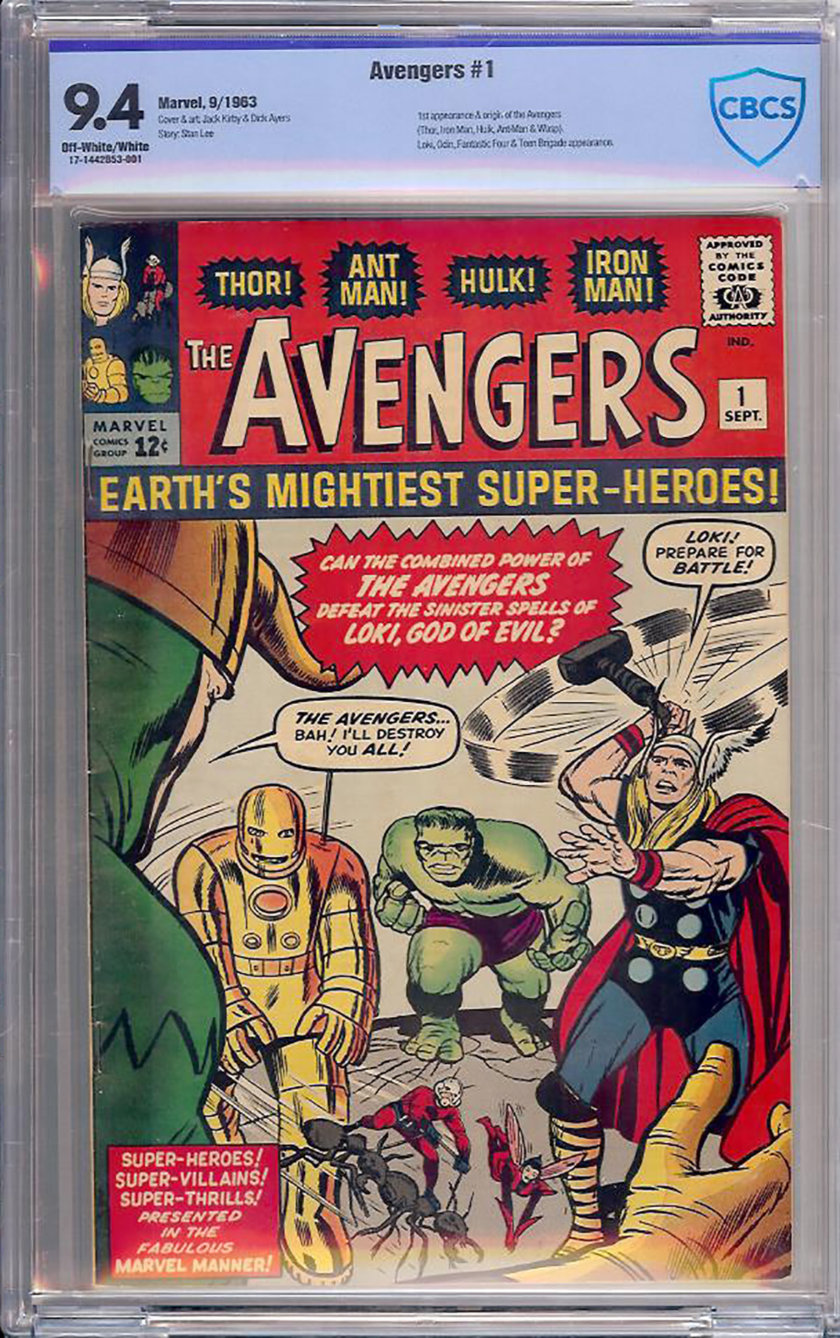 Avengers #1 CBCS 9.4 ow/w