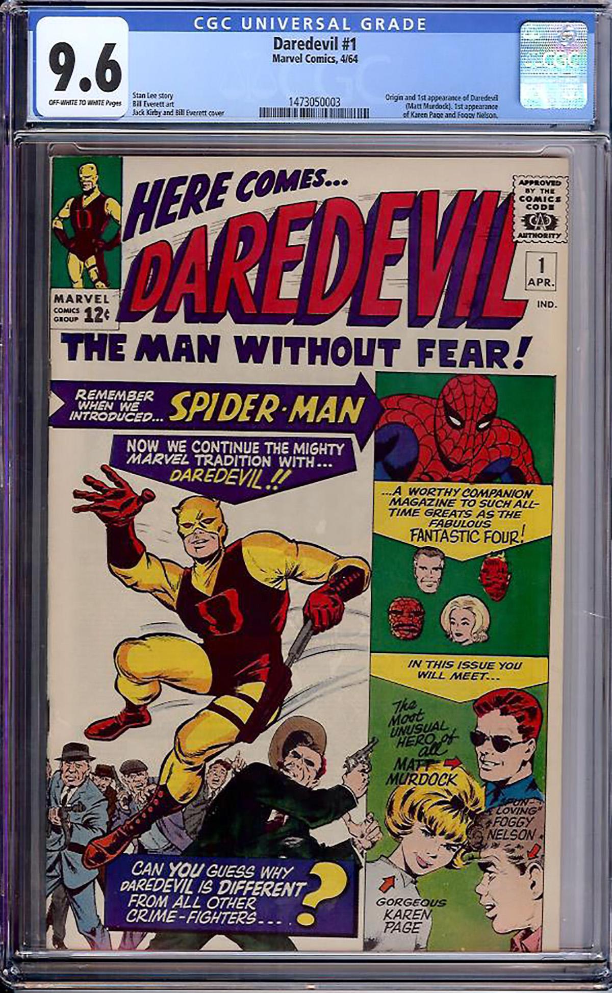 Daredevil #1 CGC 9.6 ow/w