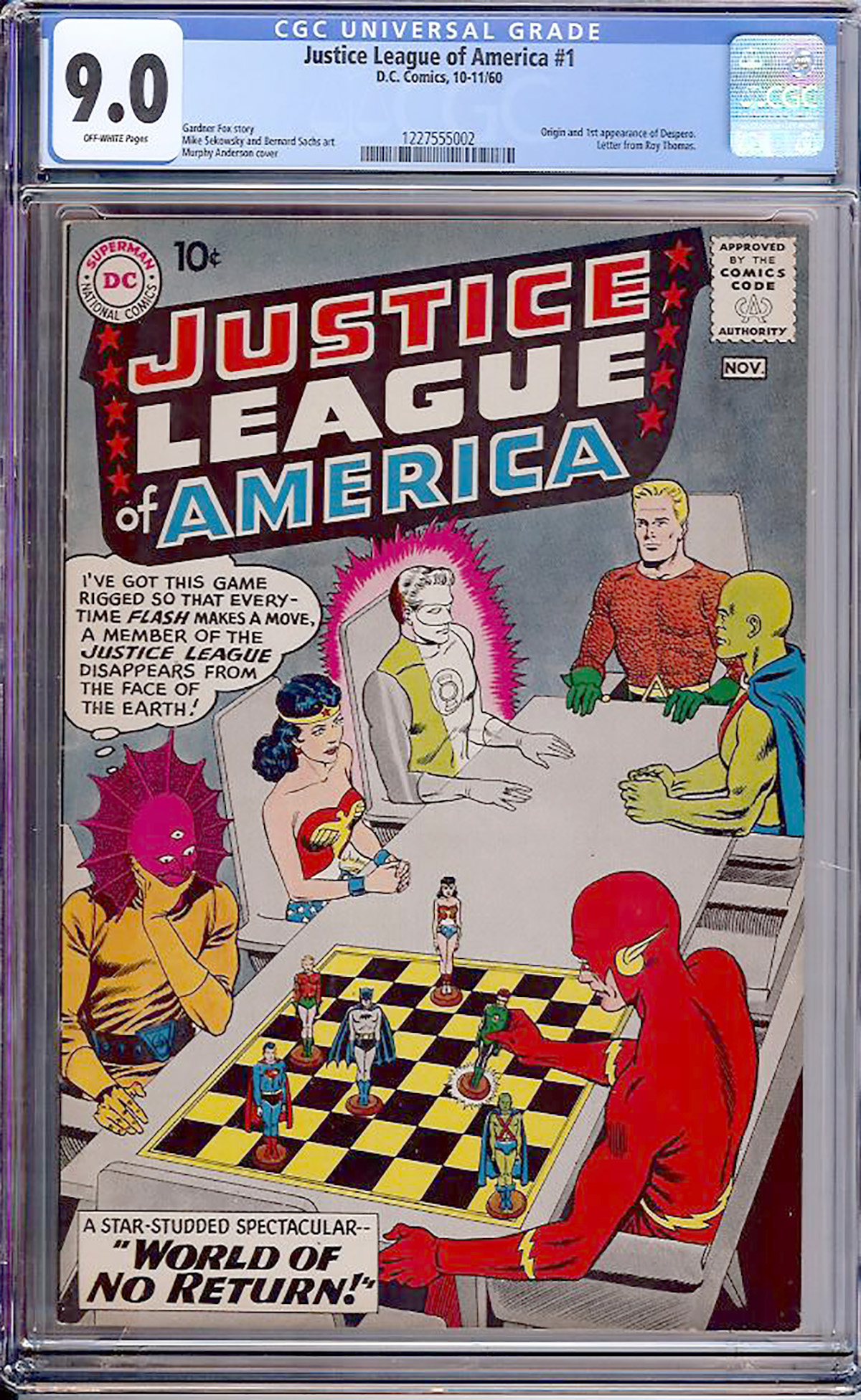 Justice League of America #1 CGC 9.0 ow