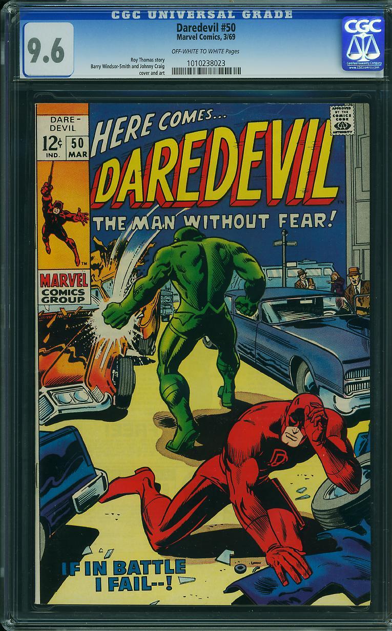 Daredevil #50 CGC 9.6 ow/w