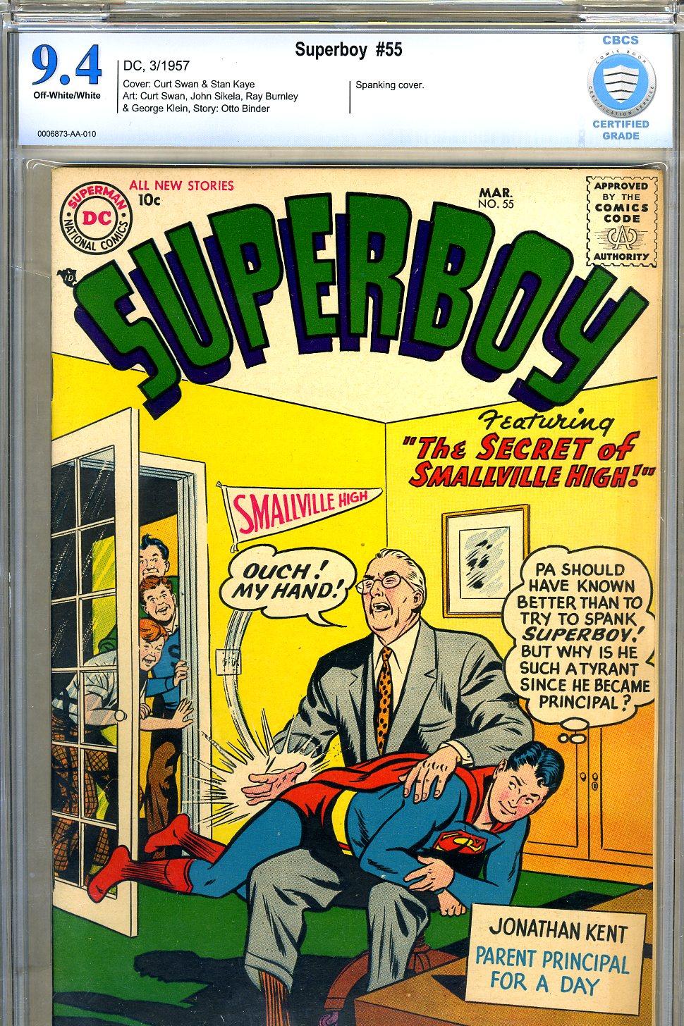Superboy #55 CBCS 9.4 ow/w