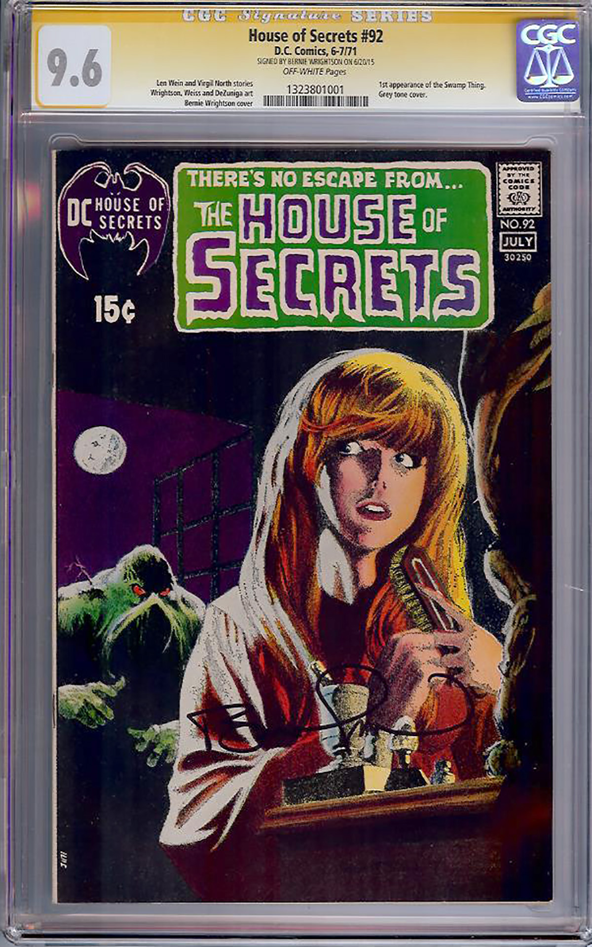 House of Secrets #92 CGC 9.6 ow CGC Signature SERIES