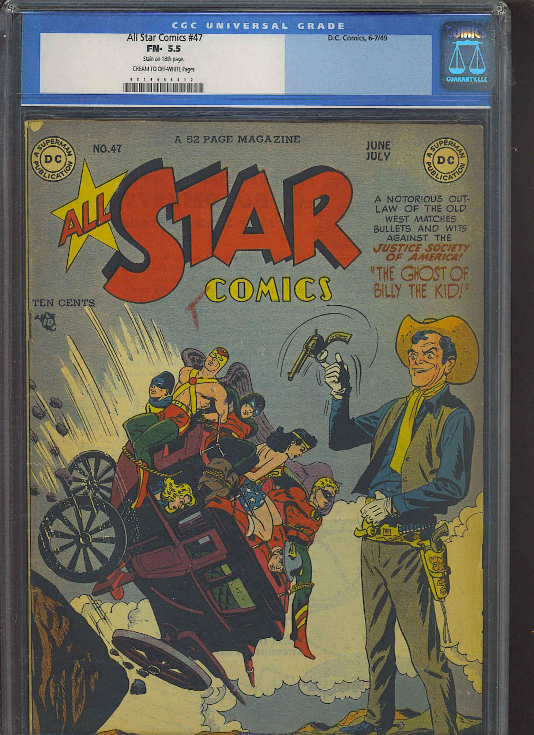 All Star Comics #47 CGC 5.5 cr/ow