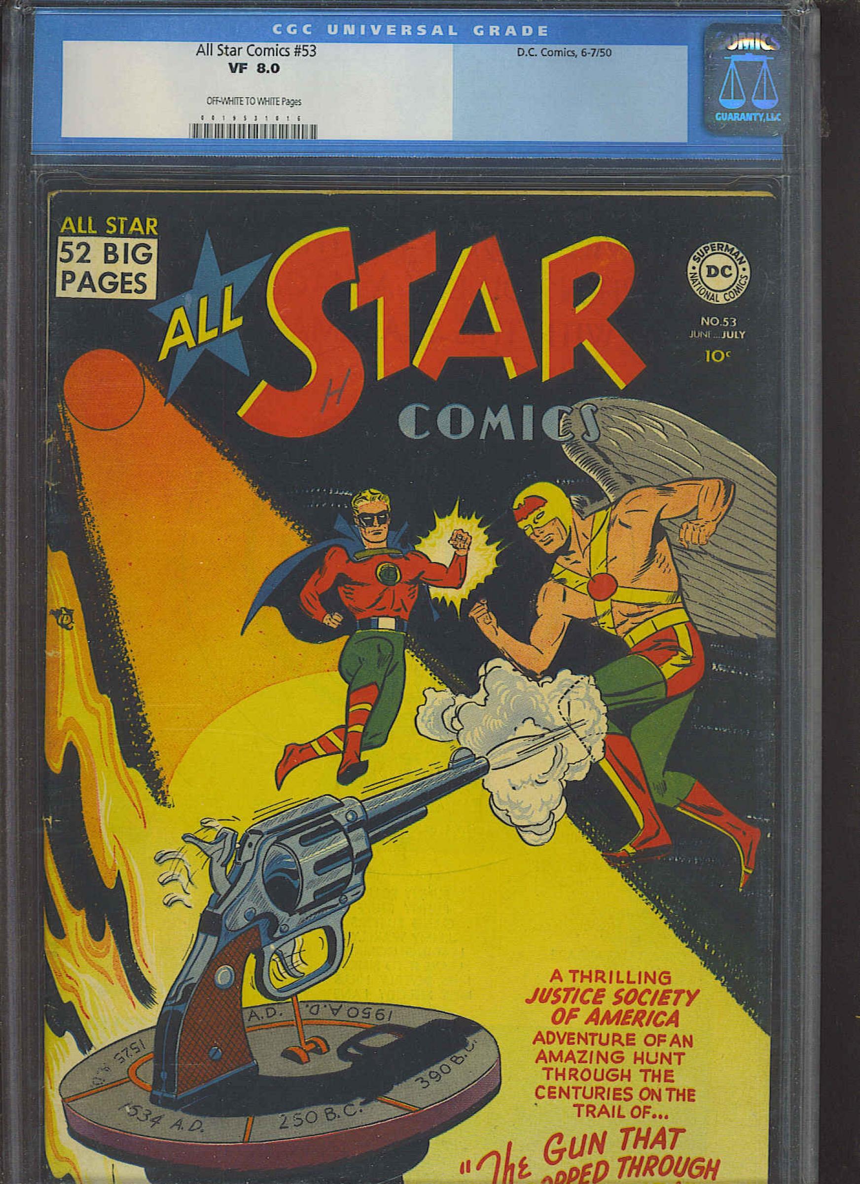 All Star Comics #53 CGC 8.0 ow/w