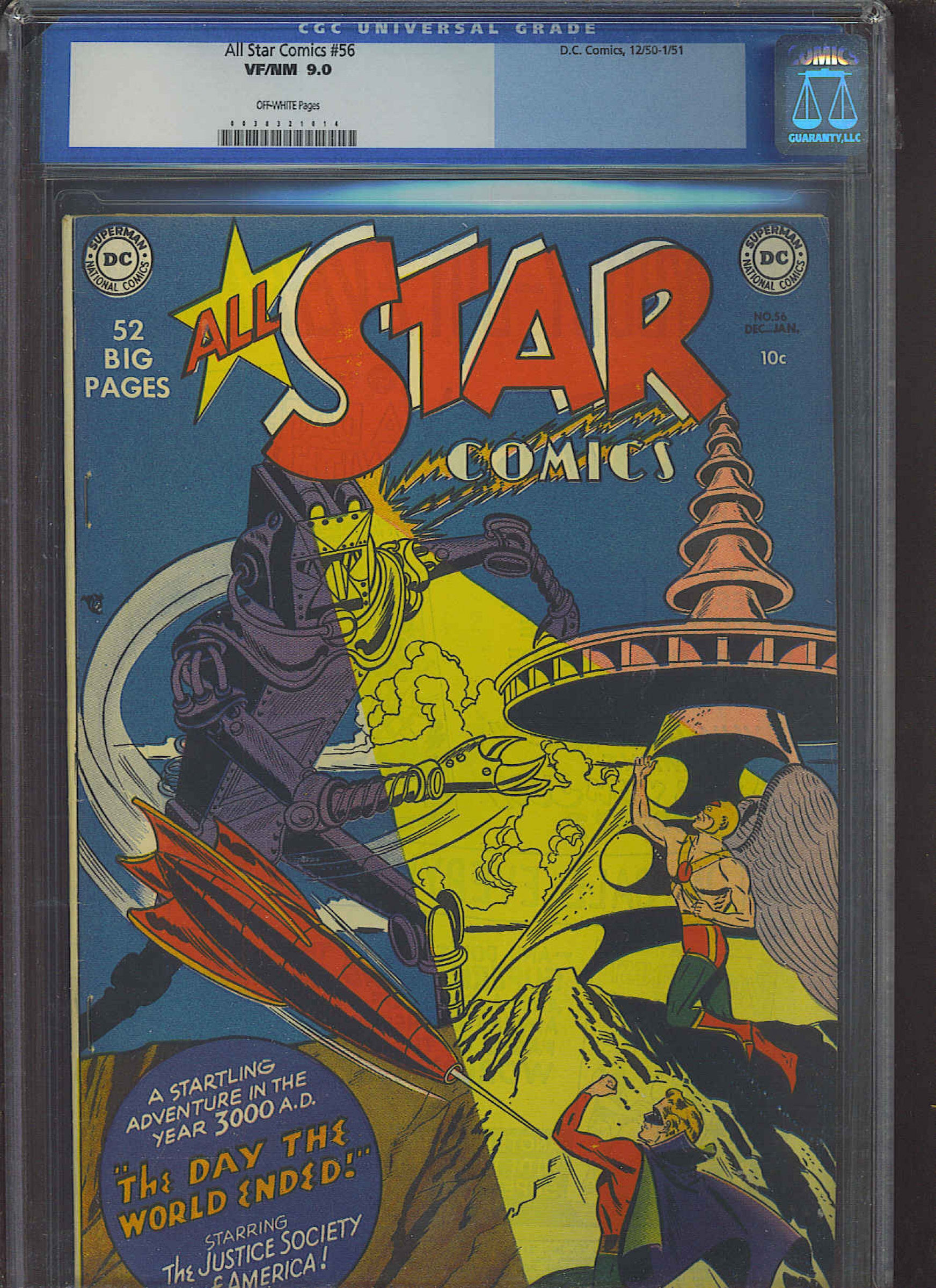 All Star Comics #56 CGC 9.0 ow