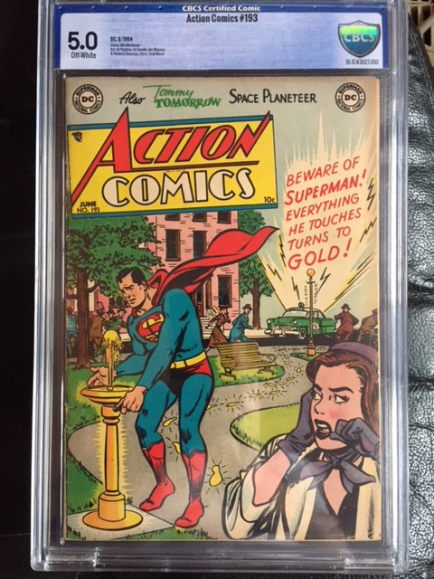 Action Comics #193 CBCS 5.0 ow