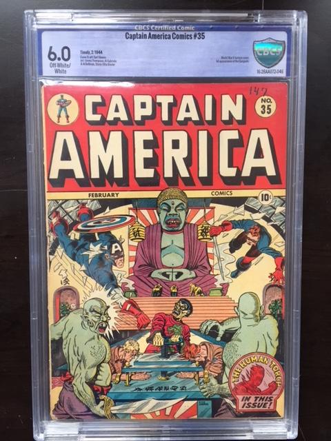 Captain America Comics #35 CBCS 6.0 ow/w