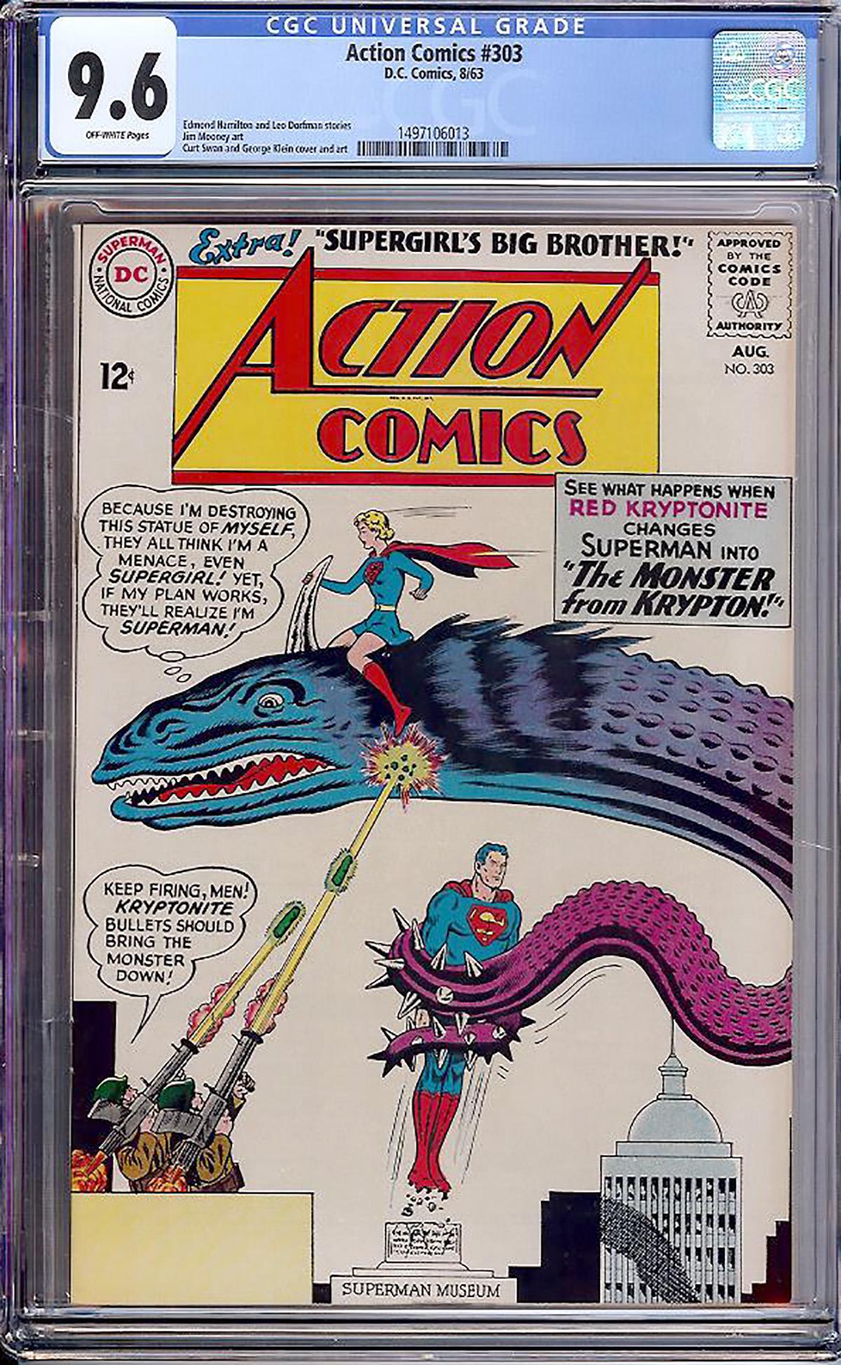 Action Comics #303 CGC 9.6 ow
