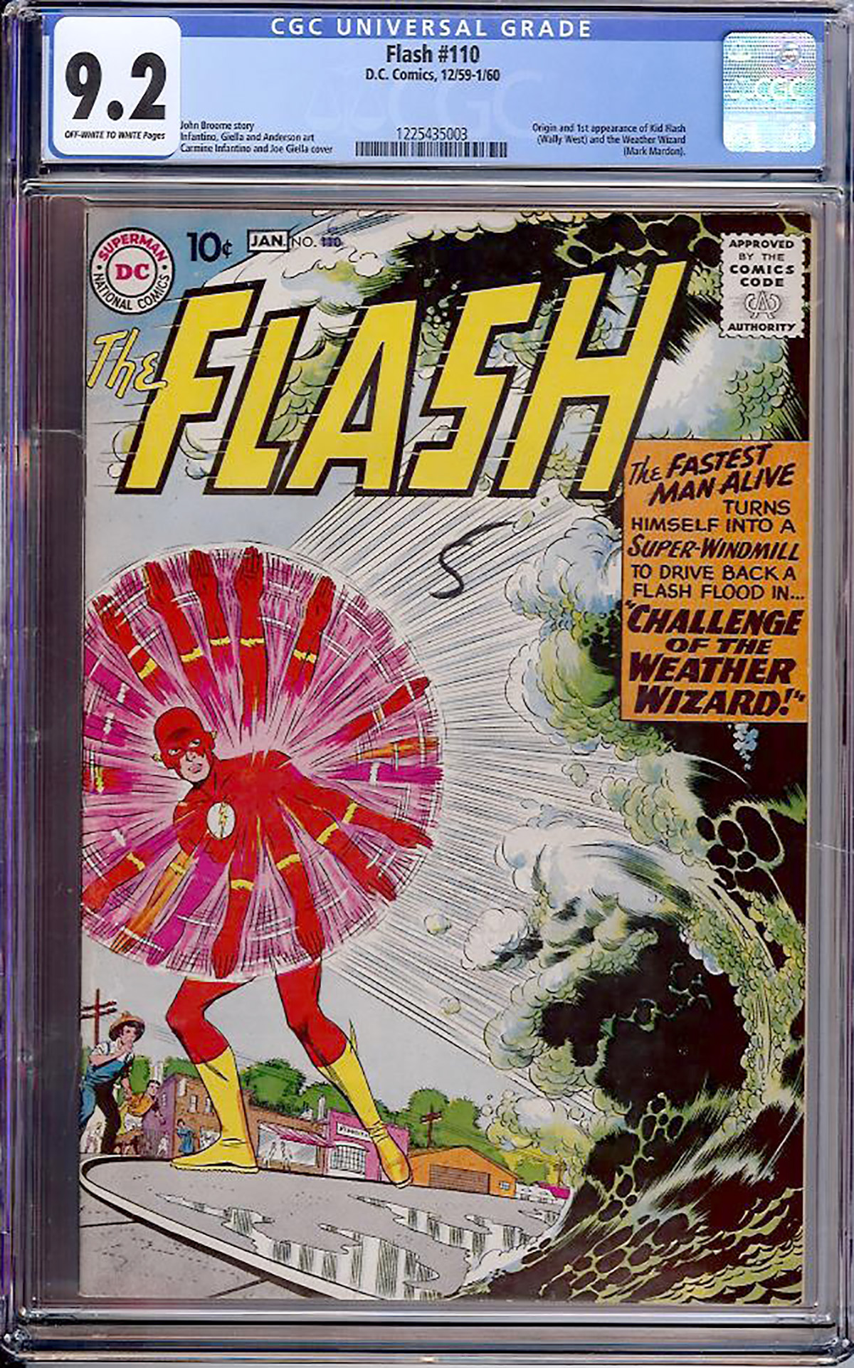 Flash #110 CGC 9.2 ow/w