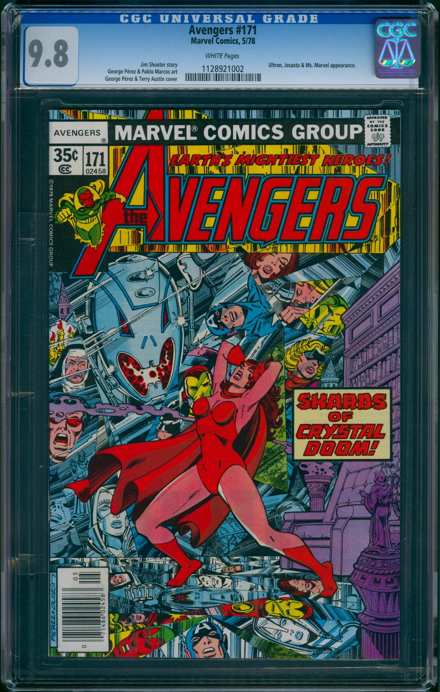 Avengers #171 CGC 9.8 w