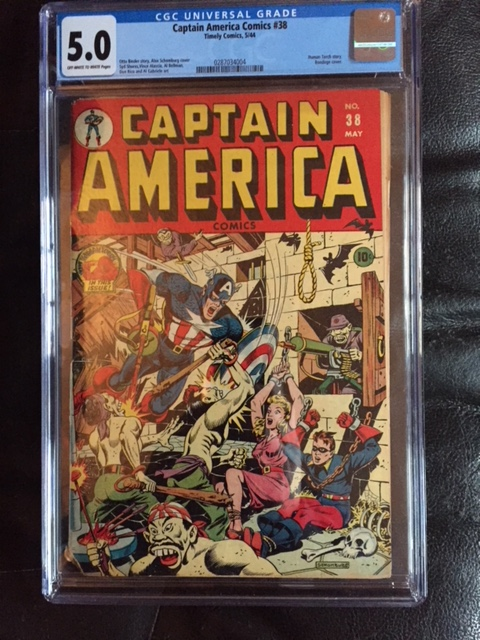 Captain America Comics #38 CGC 5.0 ow/w