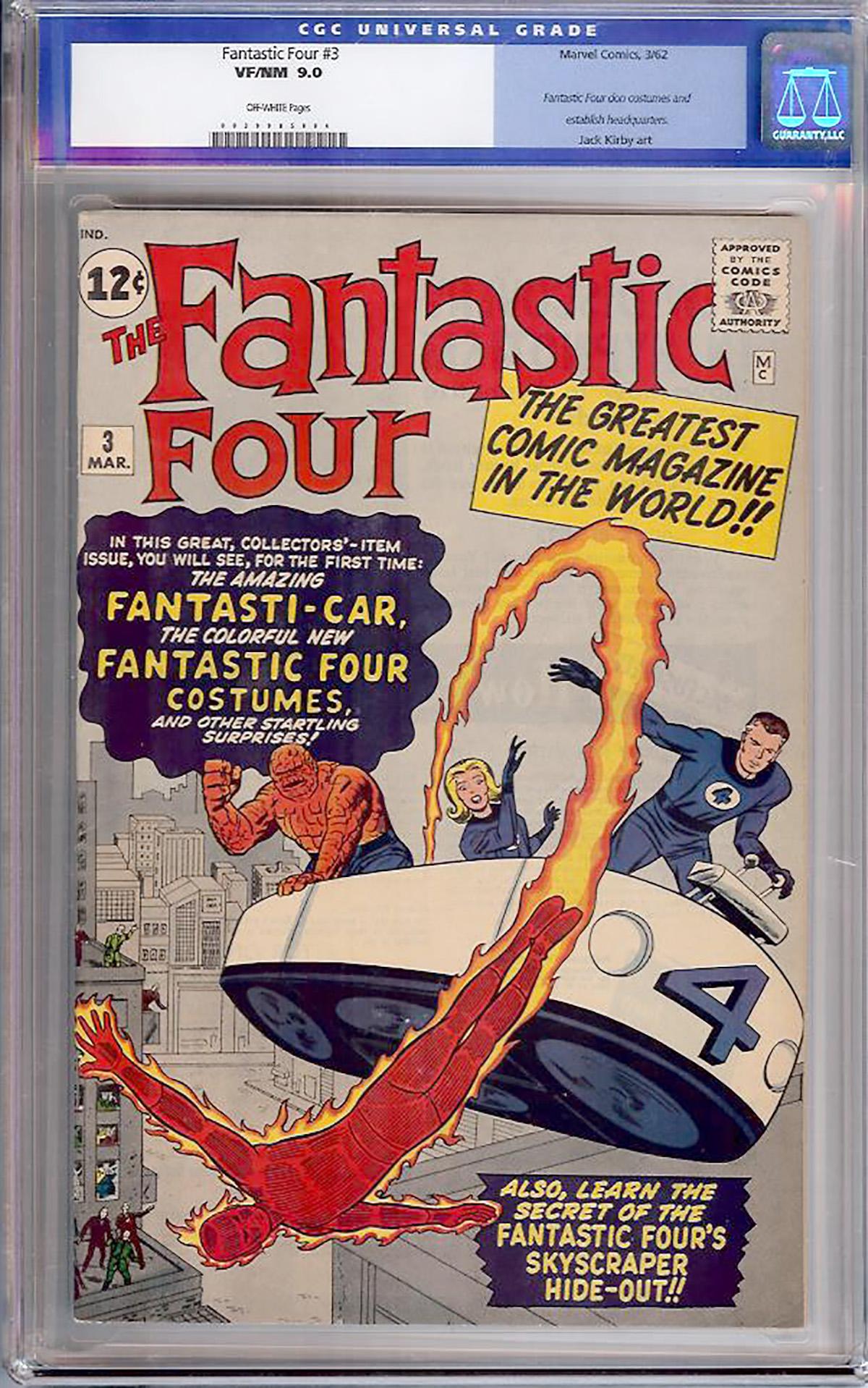 Fantastic Four #3 CGC 9.0 ow