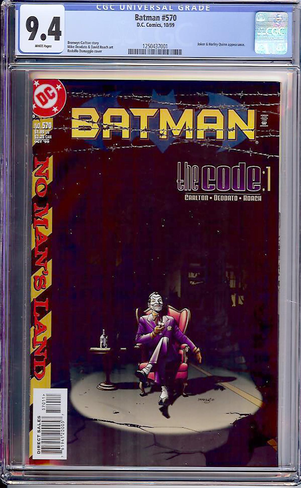 Batman #570 CGC 9.4 w