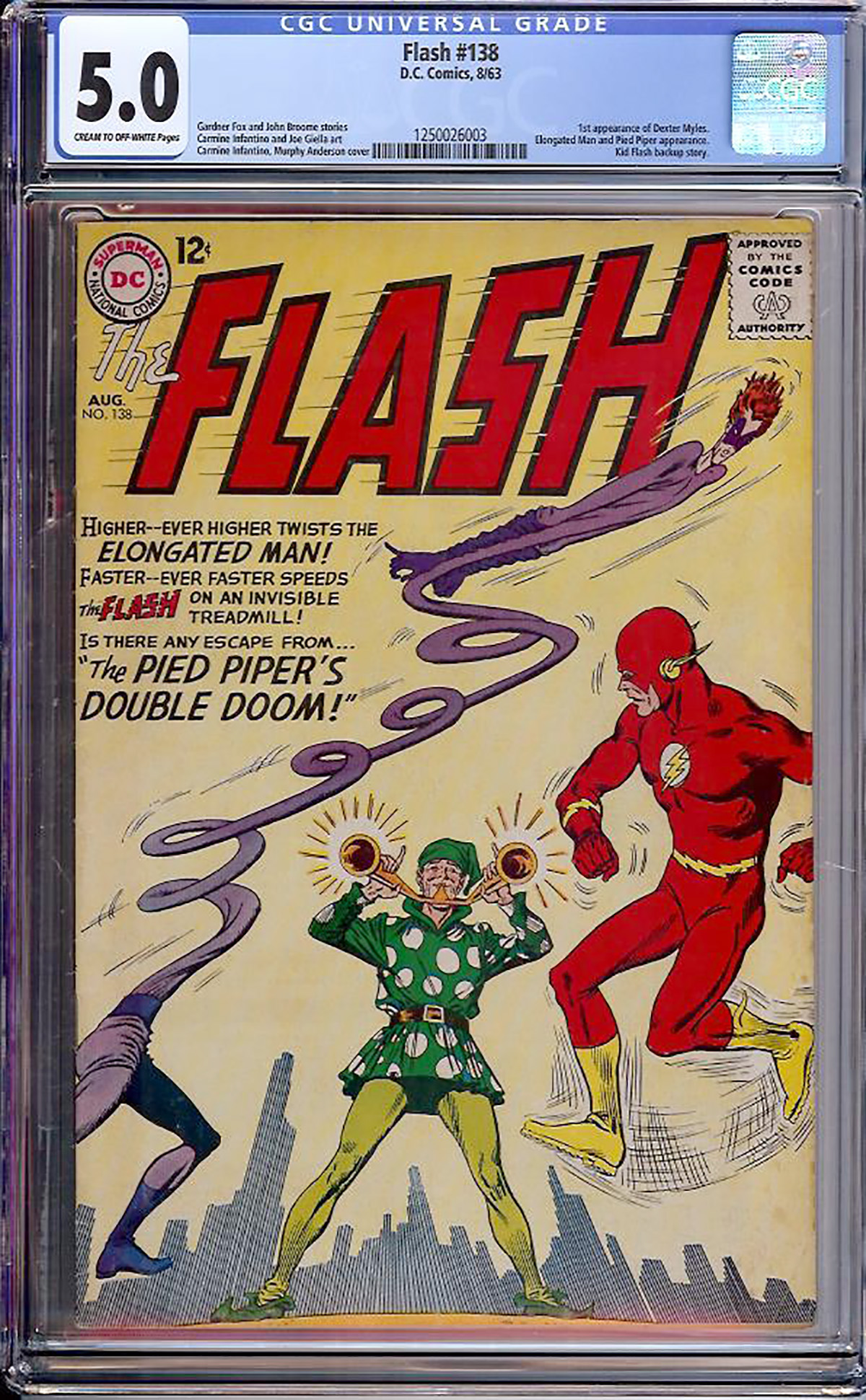 Flash #138 CGC 5.0 cr/ow