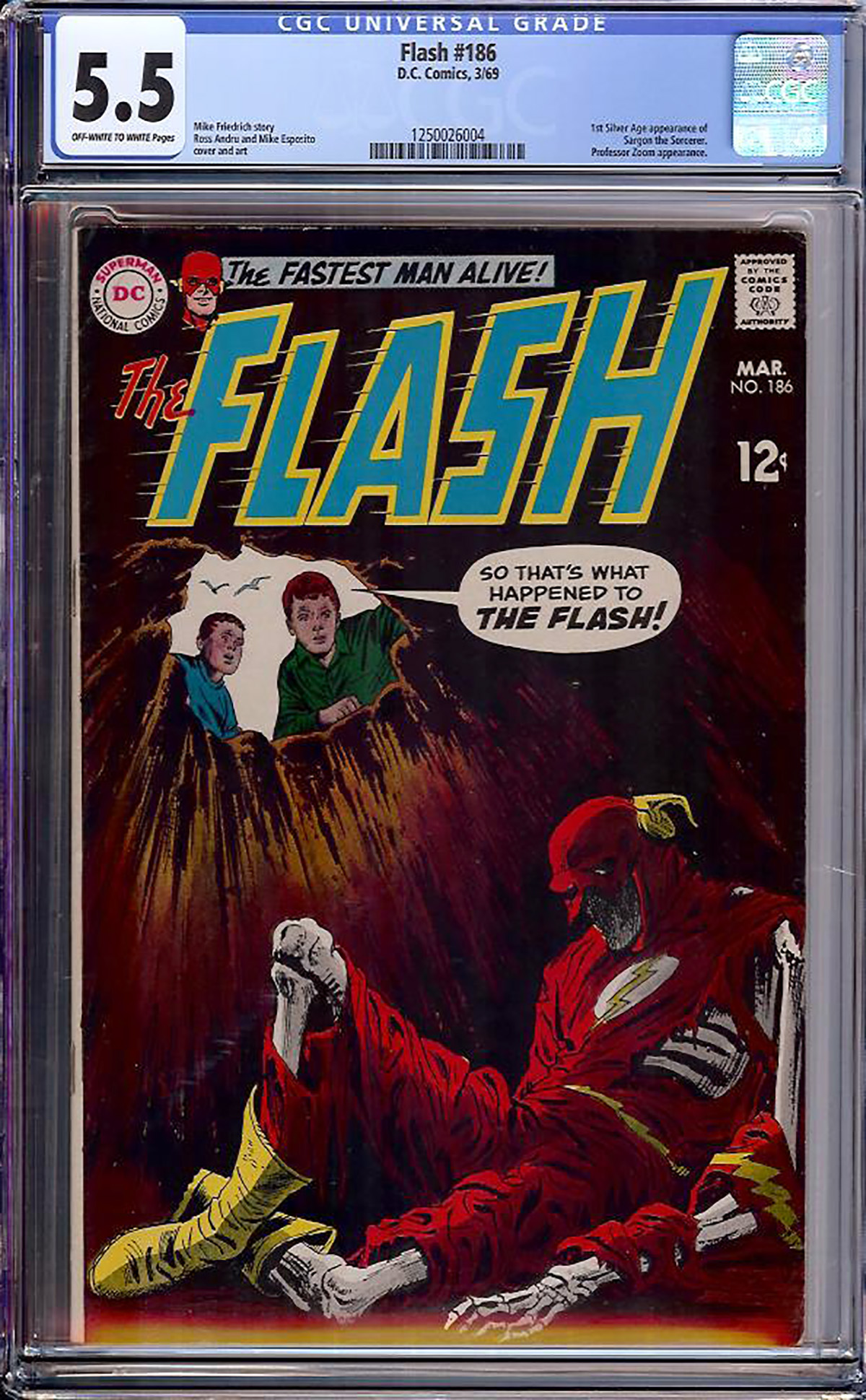 Flash #186 CGC 5.5 ow/w