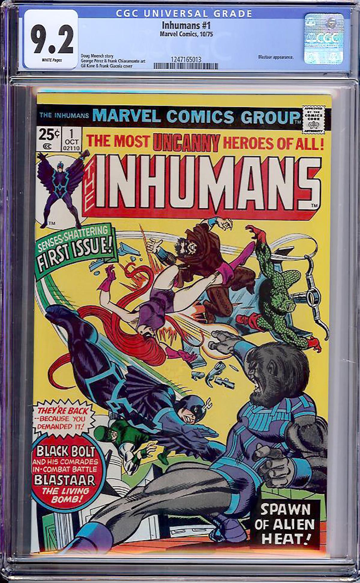 Inhumans #1 CGC 9.2 w