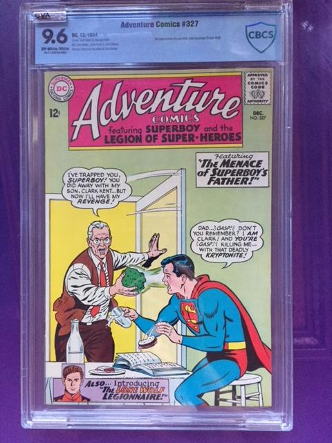 Adventure Comics #327 CBCS 9.6 ow/w