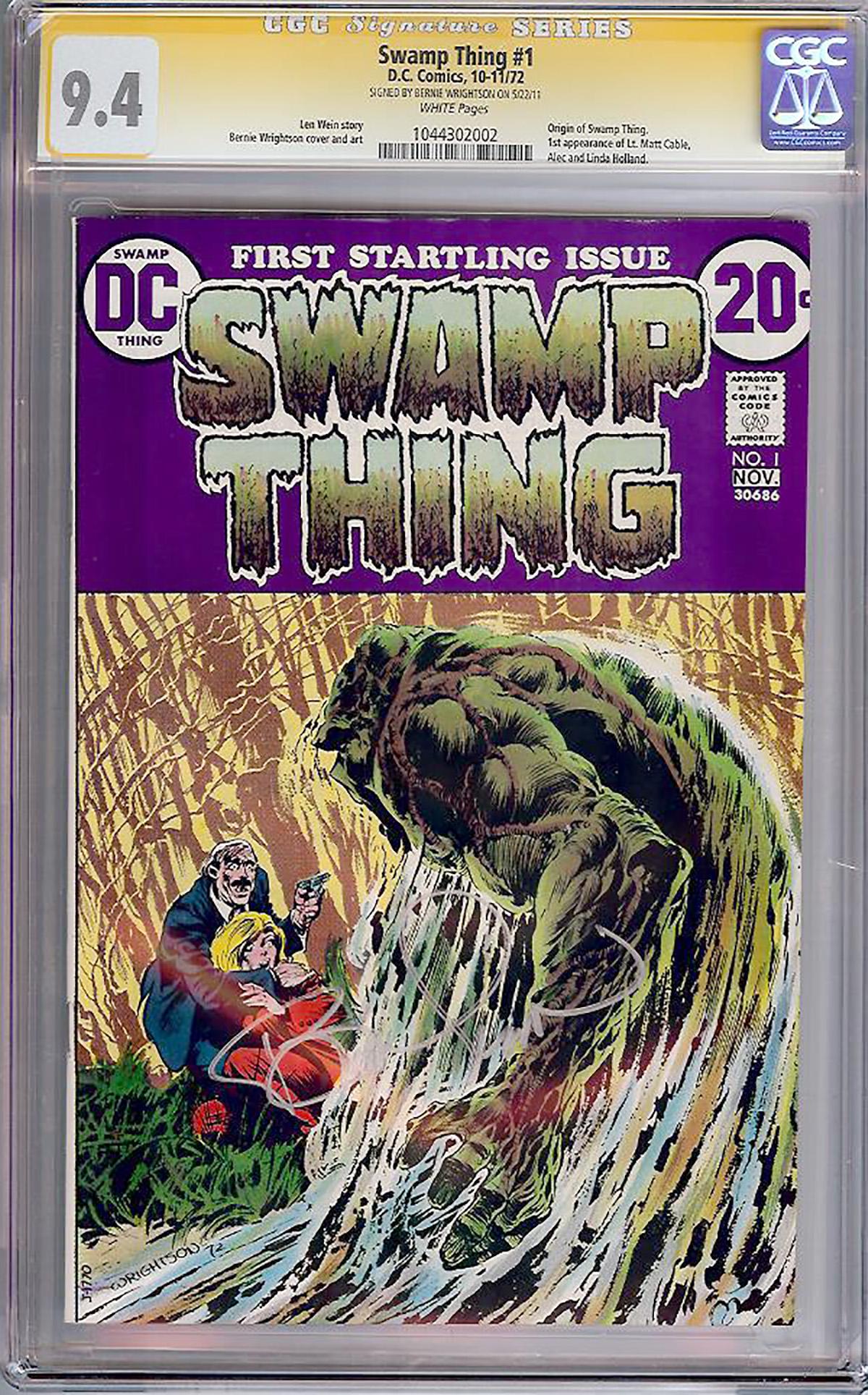 Swamp Thing #1 CGC 9.4 w