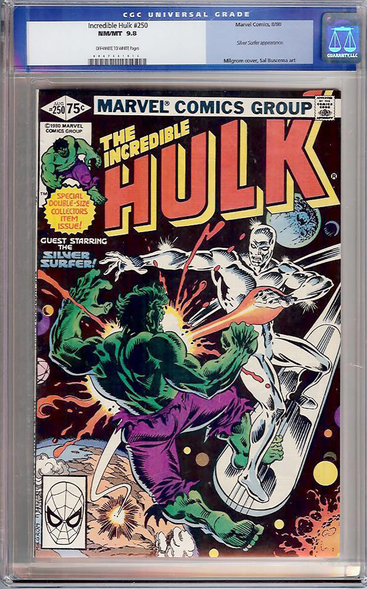 Incredible Hulk #250 CGC 9.8 ow/w
