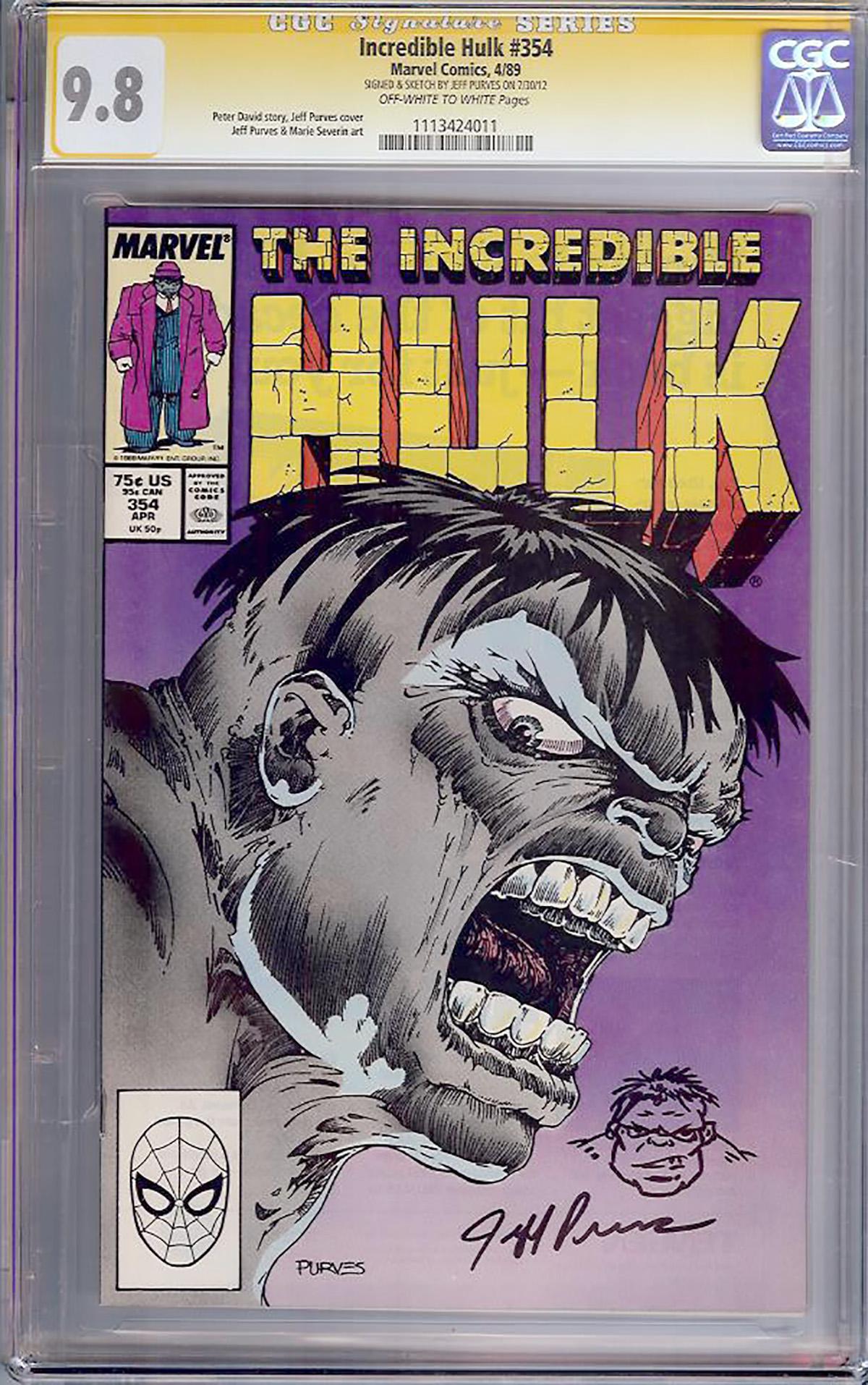 Incredible Hulk #354 CGC 9.8 ow/w CGC Signature SERIES