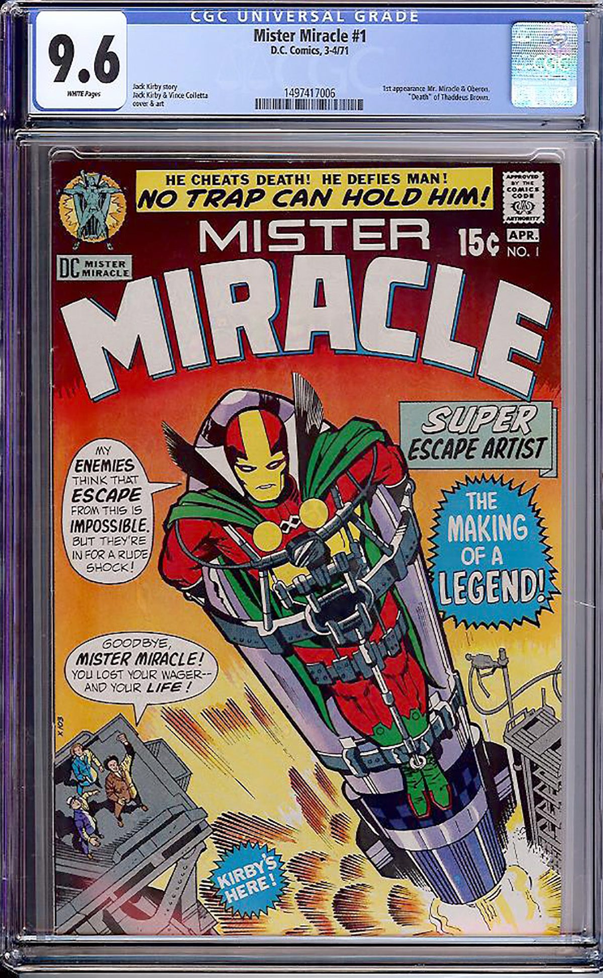 Mister Miracle #1 CGC 9.6 w