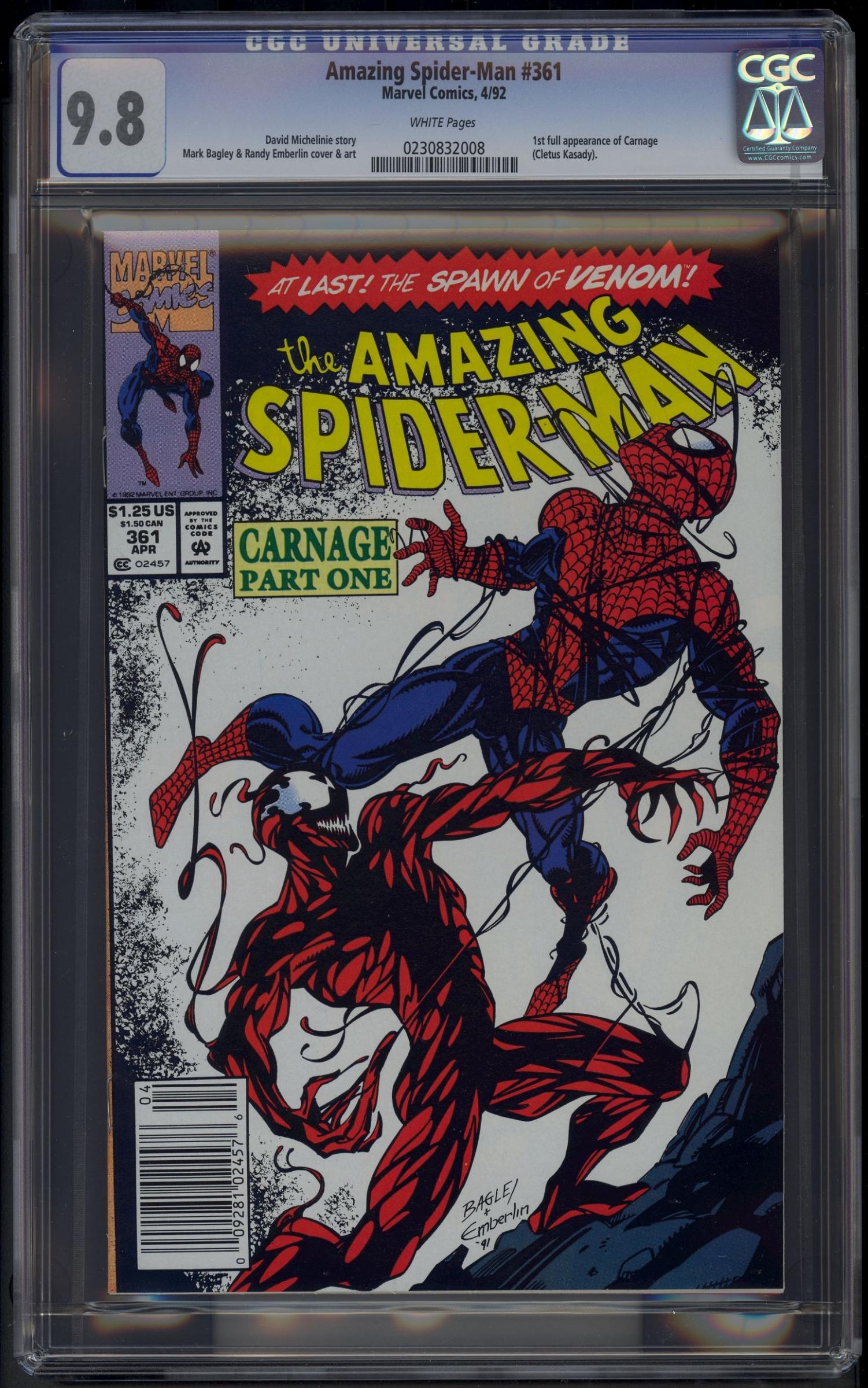 Amazing Spider-Man #361 CGC 9.8 w