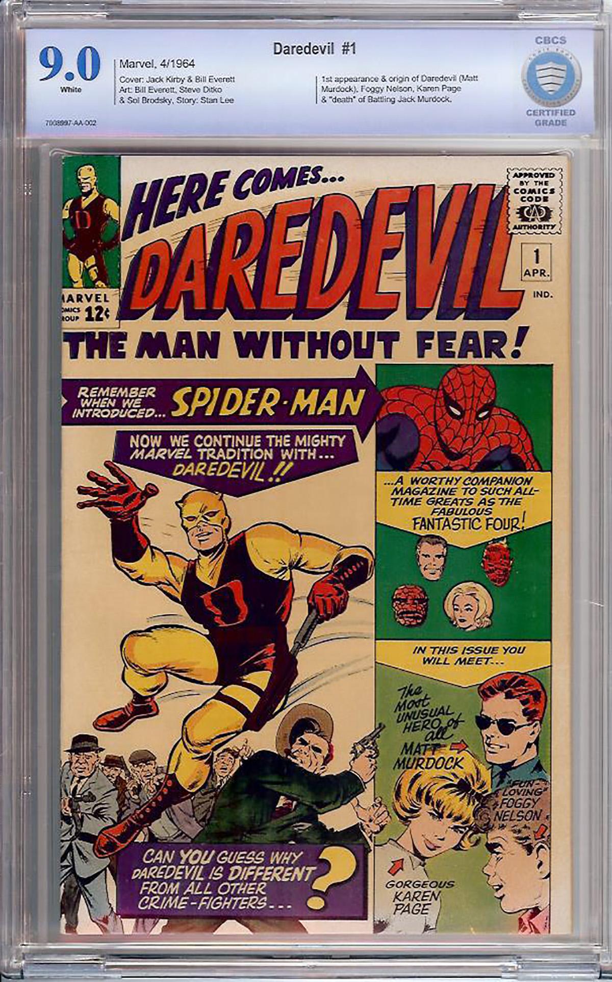 Daredevil #1 CBCS 9.0 w