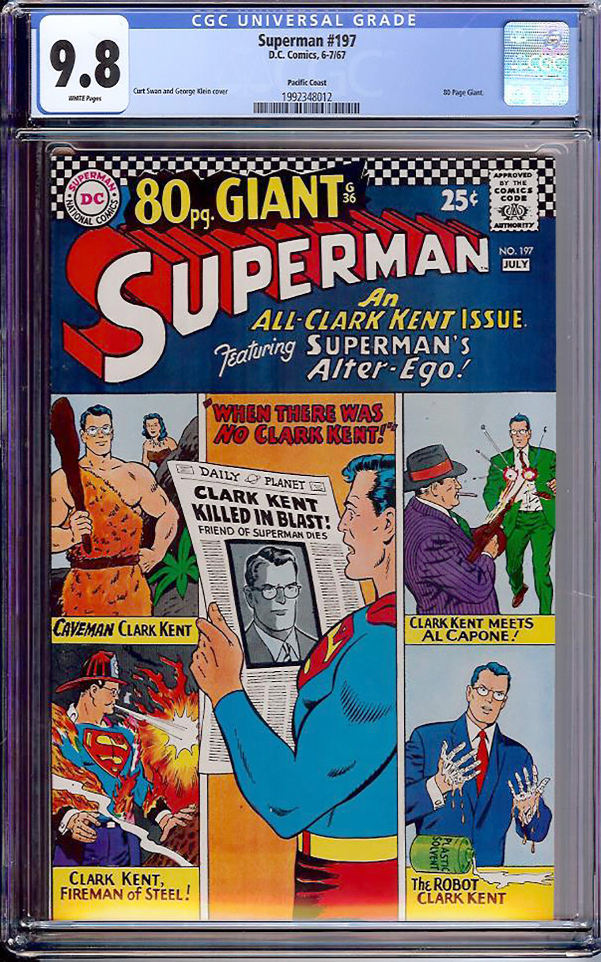 Superman #197 CGC 9.8 w Pacific Coast