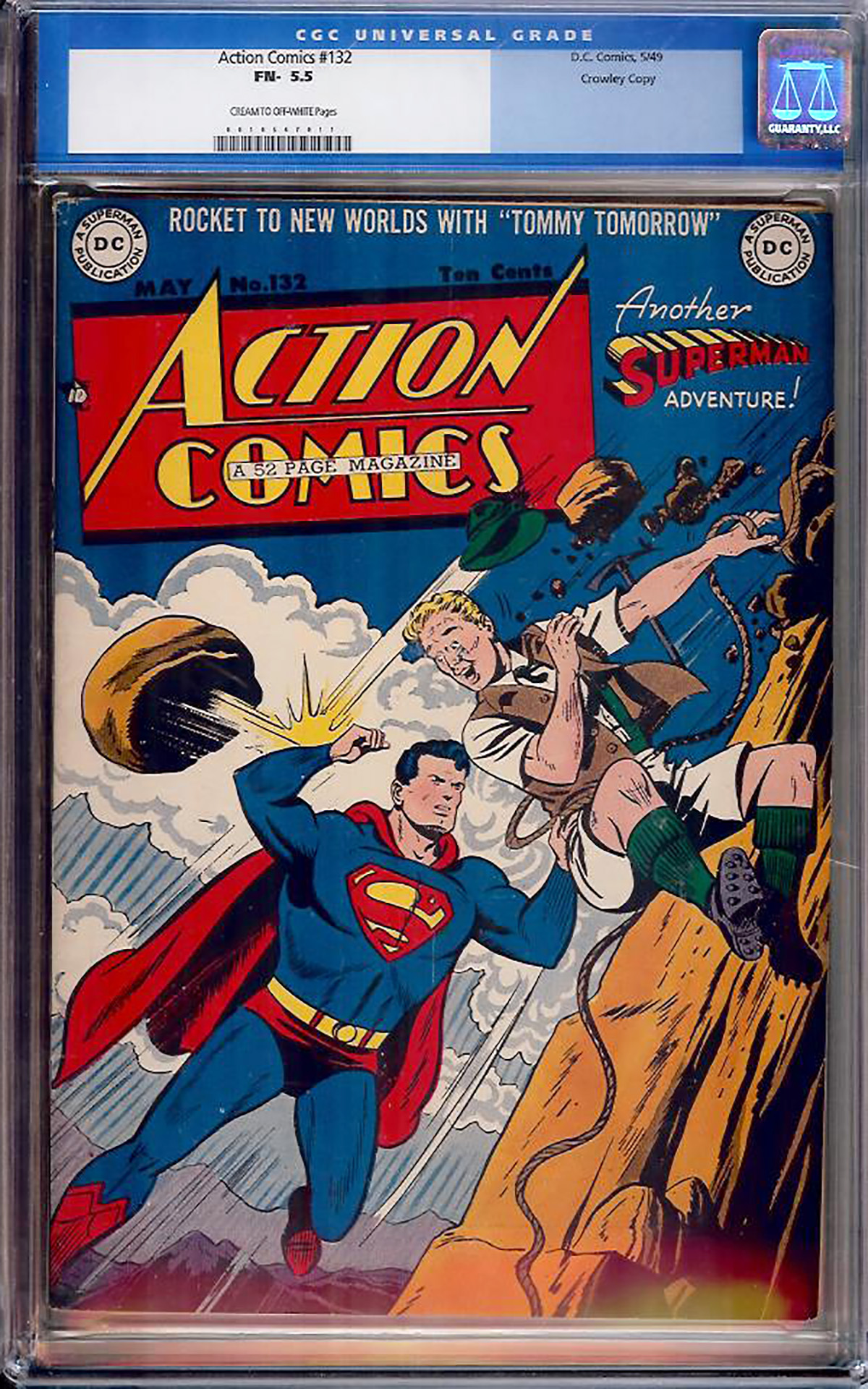 Action Comics #132 CGC 5.5 cr/ow Crowley Copy