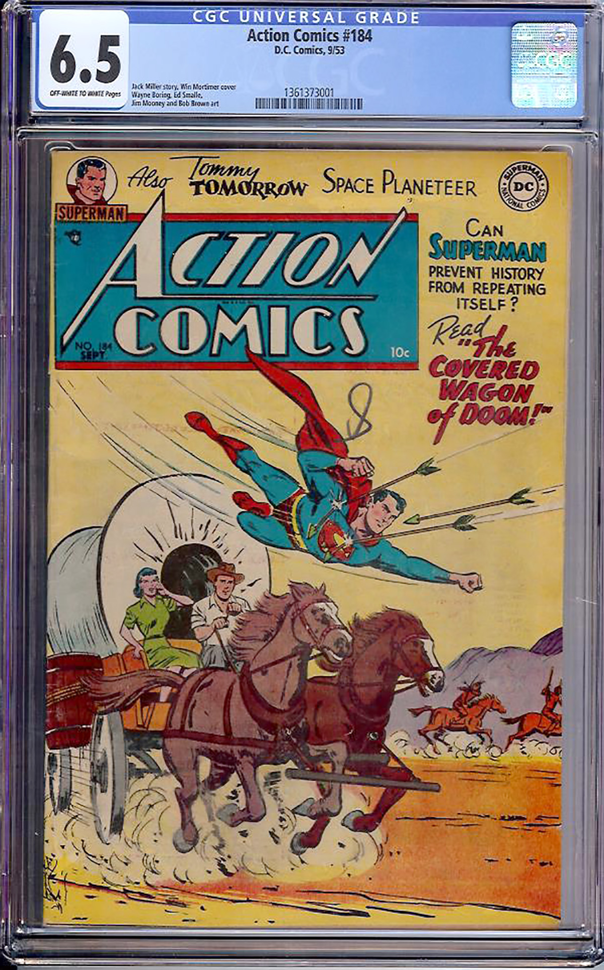 Action Comics #184 CGC 6.5 ow/w