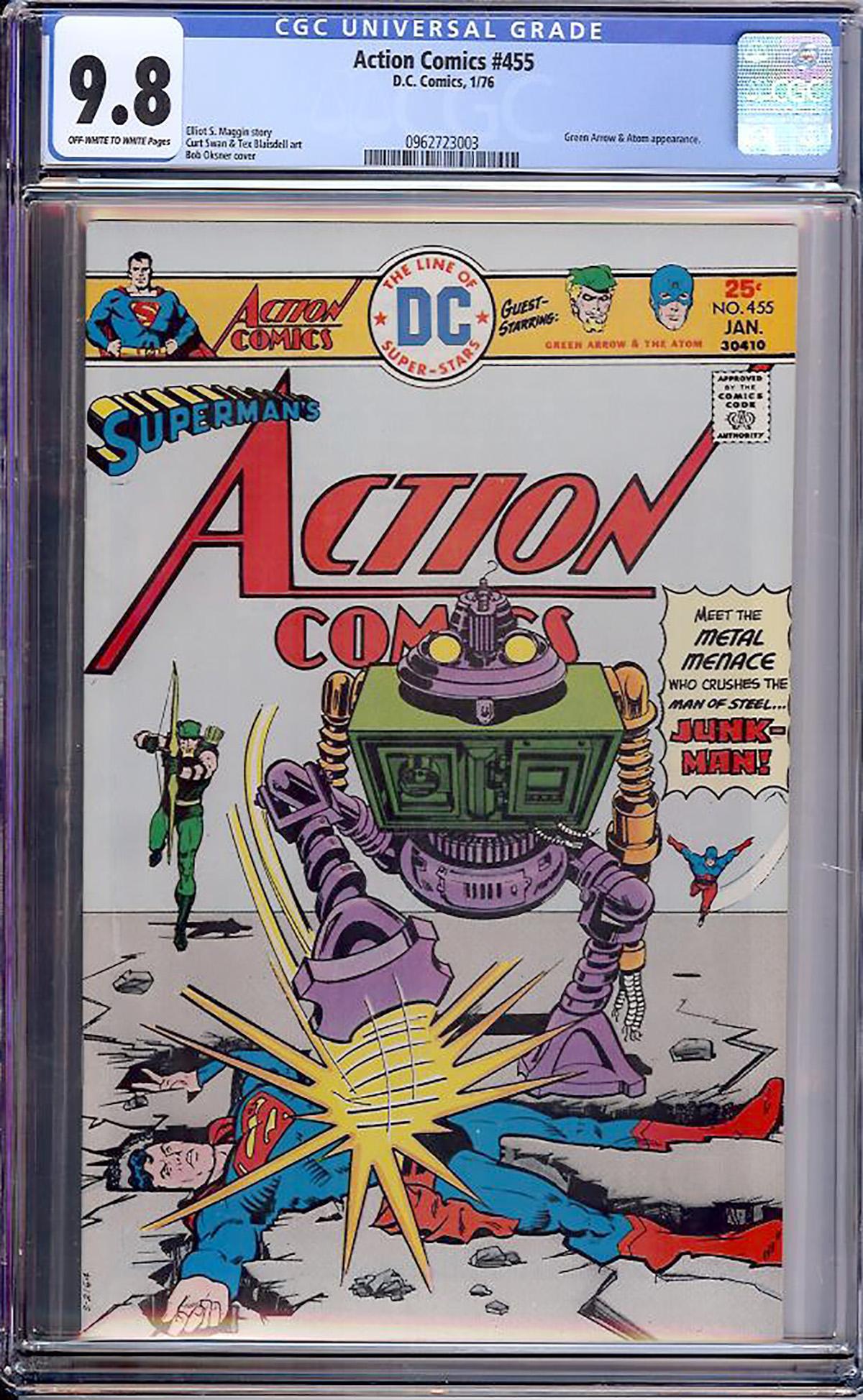Action Comics #455 CGC 9.8 ow/w