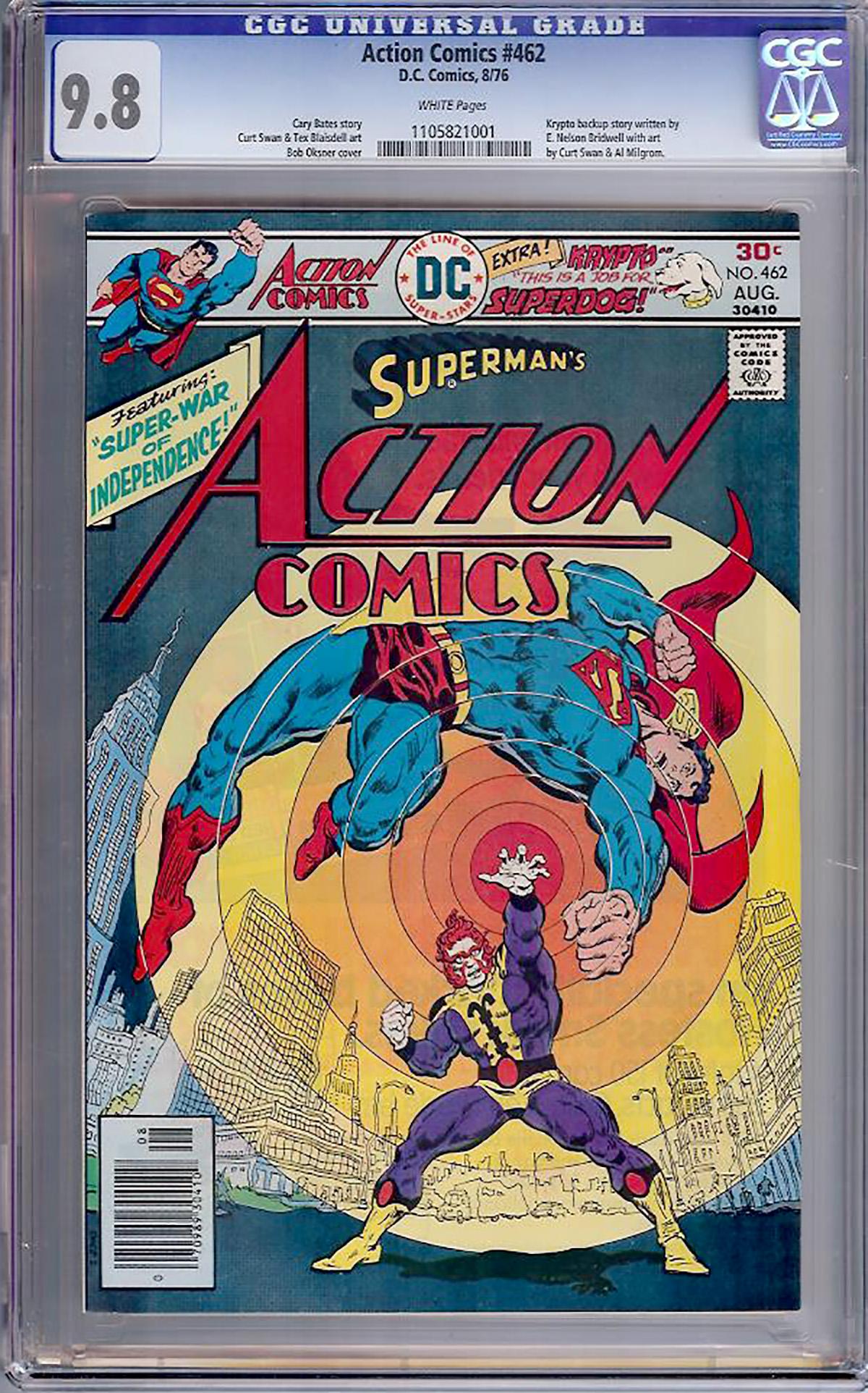 Action Comics #462 CGC 9.8 w