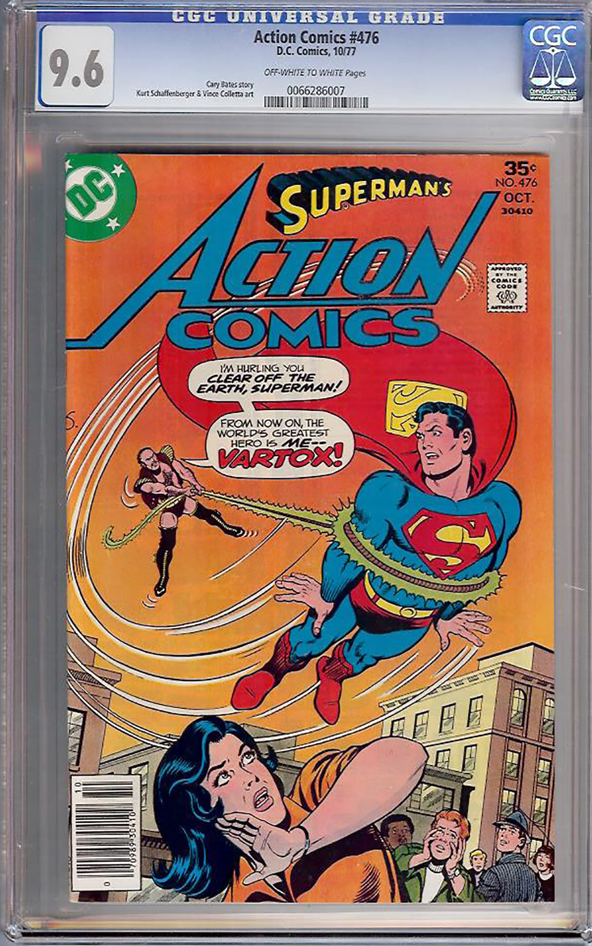 Action Comics #476 CGC 9.6 ow/w