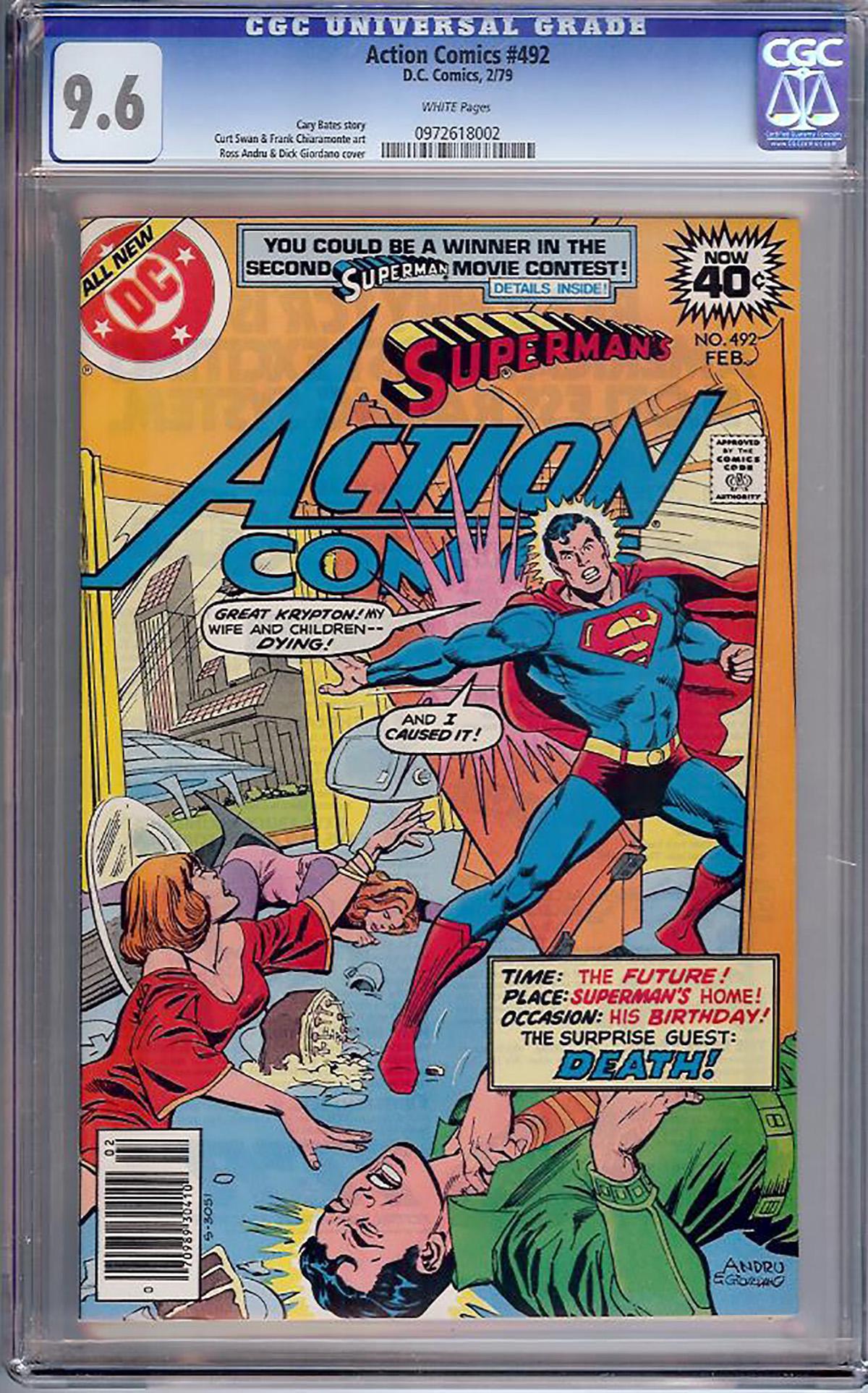 Action Comics #492 CGC 9.6 w