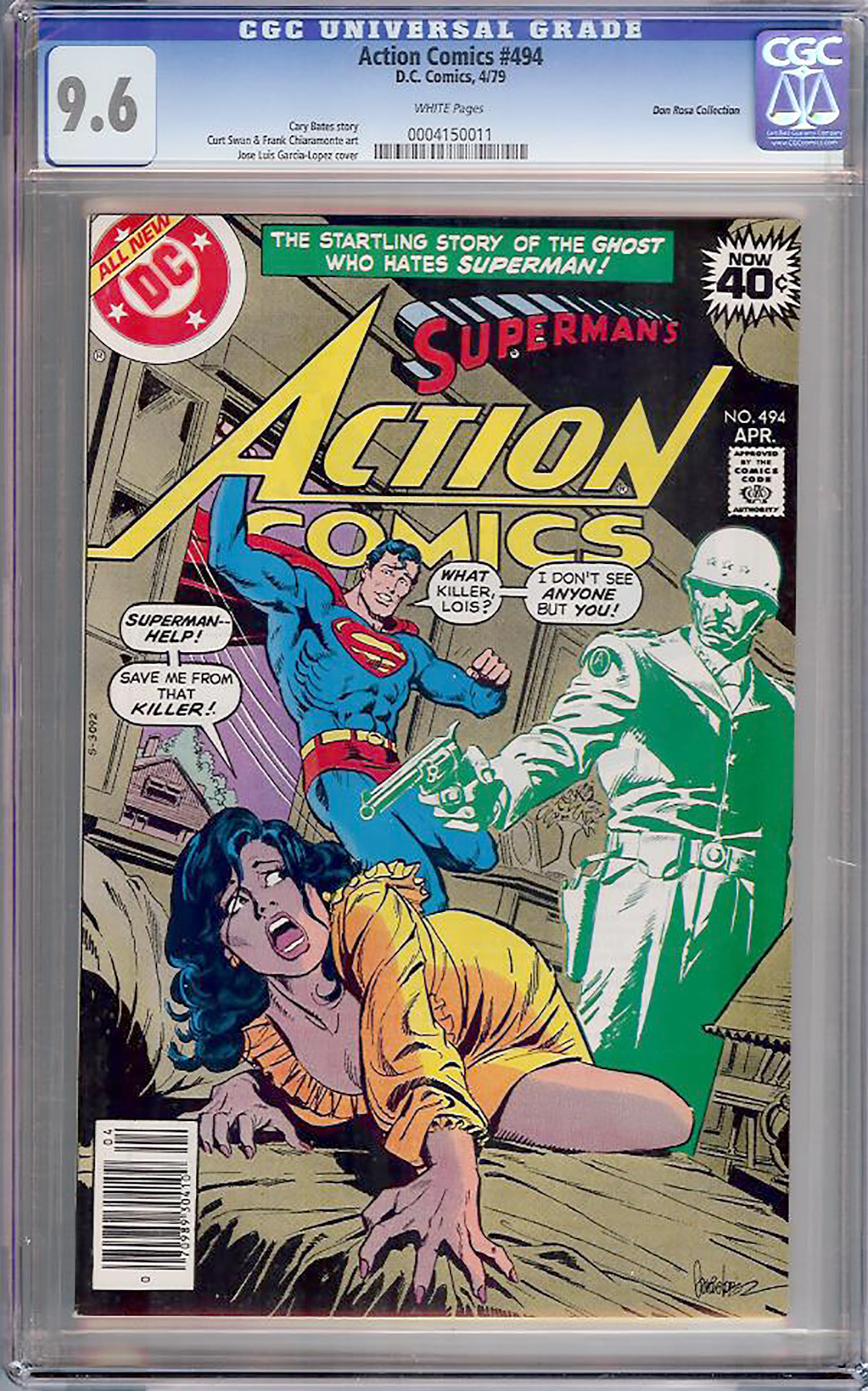 Action Comics #494 CGC 9.6 w Don Rosa Collection