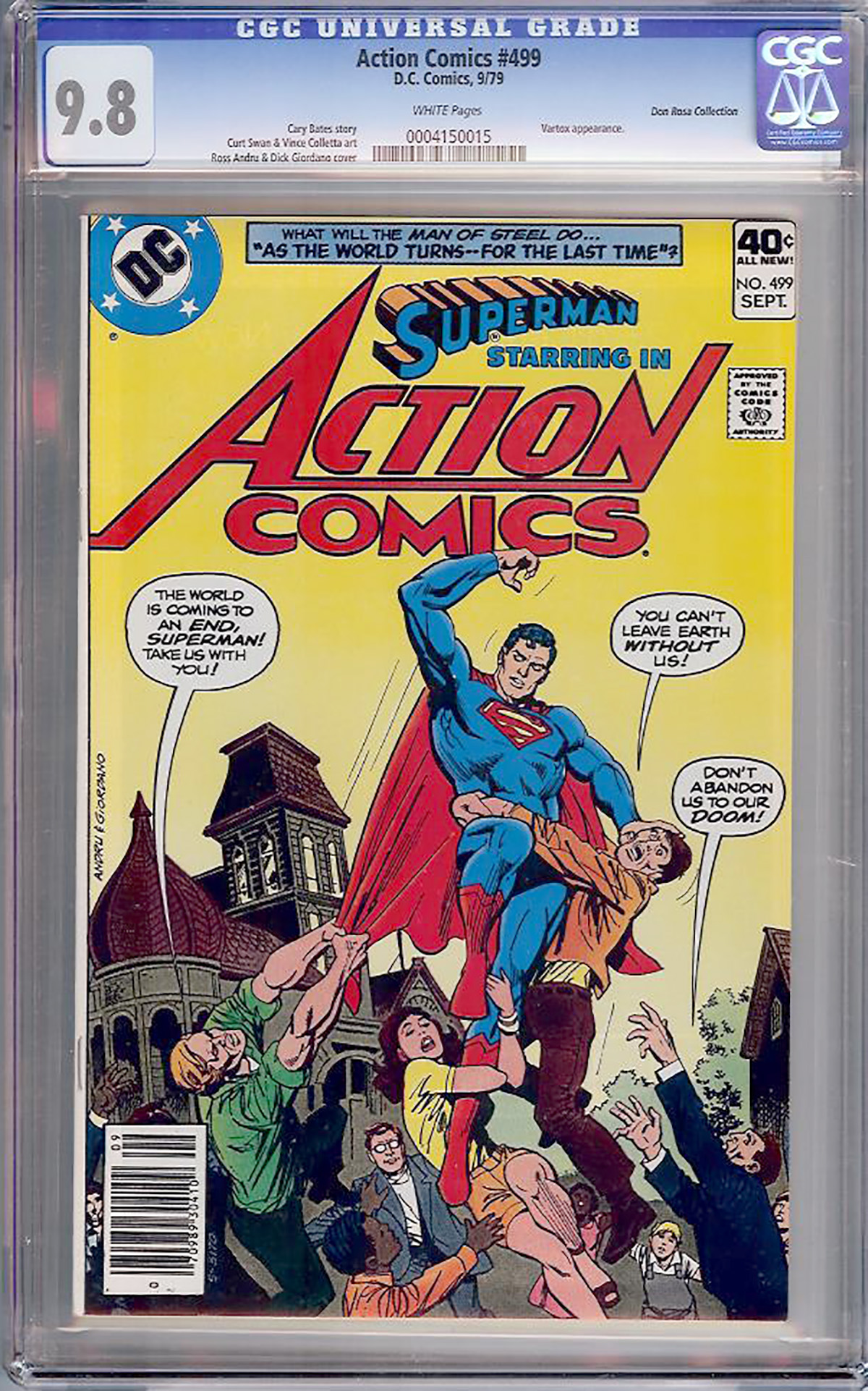 Action Comics #499 CGC 9.8 w Don Rosa Collection