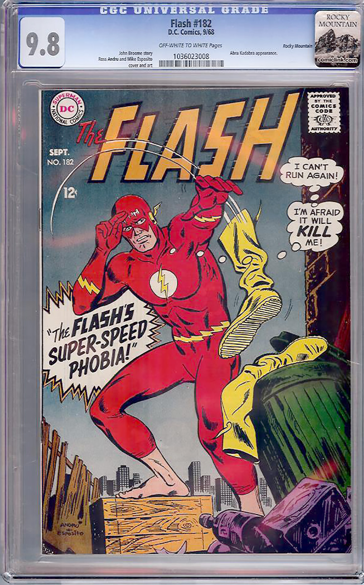 Flash #182 CGC 9.8 ow/w Rocky Mountain